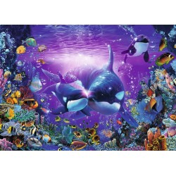 Orcas bajo el Mar