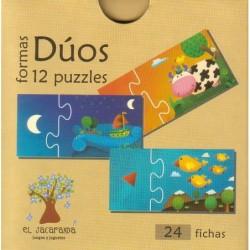 Dúos Formas (12 Puzzles De...
