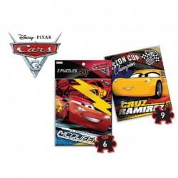 2 Puzzles 6 Y 9 Piezas:Cars